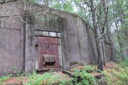 Abandoned World War II Era Ammunition Storage Bunker in Massachusetts Woods