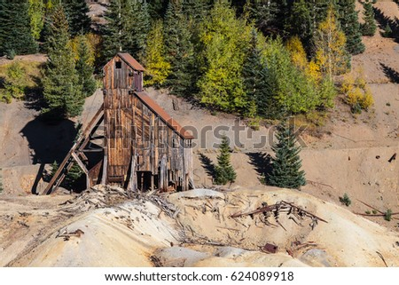 Abandoned Yankee Girl Mine near Red Mountain, Colorado