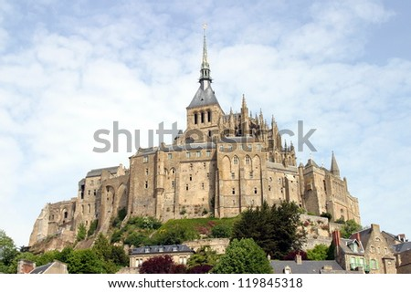 Abbey Mont Saint-Michel in France, Normandy, a unesco world heritage site - stock photo