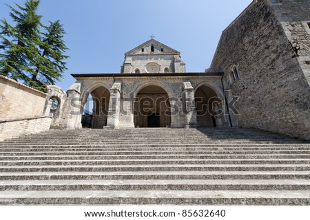 Abbey of Casamari (Frosinone, Lazio, Italy), the church