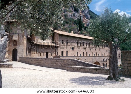 Abbey of San Benedetto, or of the Sacro Speco, near Subiaco (Rome, Italy)