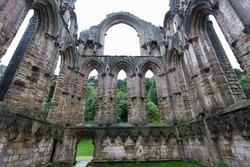 abbey old ruin n england UK.