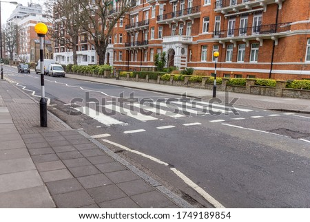 Photo of  Abbey road crossroad, London, UK