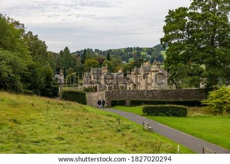 Abbotsford House & Gardens former home of Sir Walter Scott - Melrose, Scotland, UK ストックフォト ©
