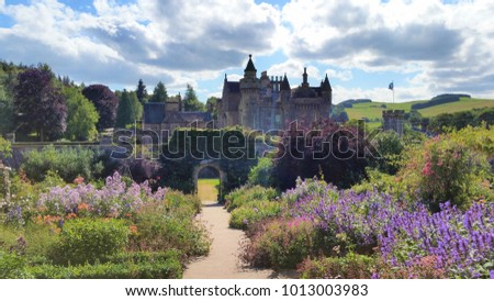 Abbotsford House, located in the Scottish Borders and once home to the writer Sir Walter Scott.