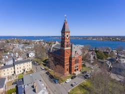 Abbott Hall, built in 1876, is located at 188 Washington Street and now is town hall of Marblehead, Massachusetts MA, USA.