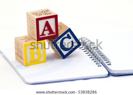 ABC Alphabet blocks with notebook