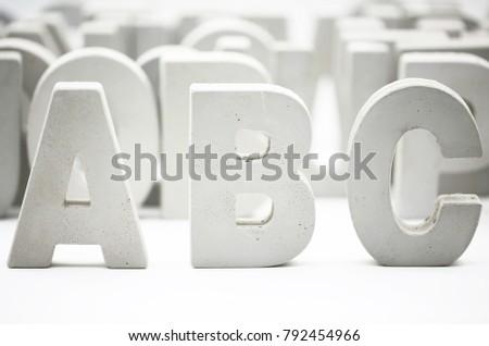 ABC block word