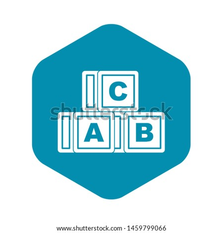 ABC cubes icon. Simple illustration of ABC cubes icon for web
