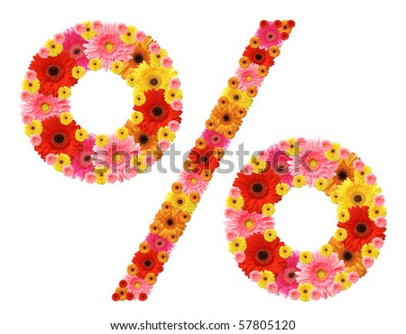 abc, flowers, mathematical sign rate