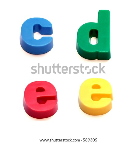 ABC fridge magnets - c, d and e Mix and Match to make your own words