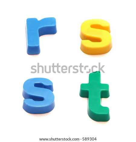 ABC fridge magnets - letters r, s and t Mix and Match to make your own words