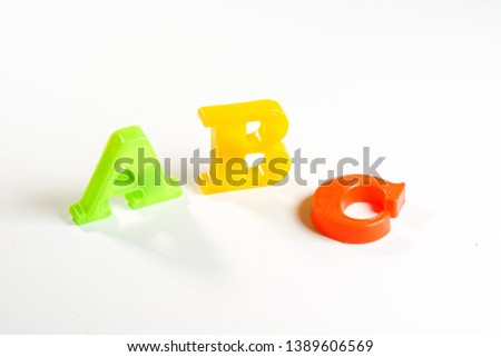 ABC letter isolated against white background