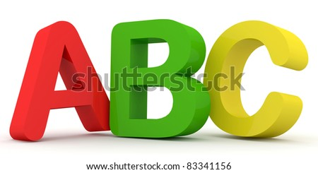 ABC Letters (Hight Resolution 3d Image)