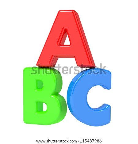 ABC Letters - Image Isolated on White.