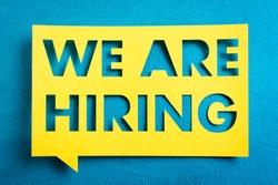 ABC of we hiring ad, hiring poster, job advertisement, job openings, hr recruiting.