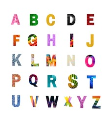Abcd Letters, Capital Letters,colorful letters,different colors, A-Z alphabets,learn abc for pre-school and kids