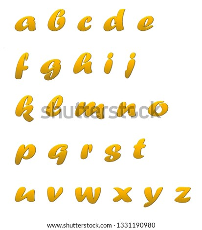 Abcd Letters, Capital Letters,colorful letters,different colors, A-Z alphabets,learn abc for pre-school and kids #1331190980