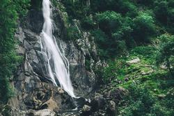 Aber Falls or in Welsh Rhaeadr Fawr is waterfall located about two miles south of the village of Abergwyngregyn, Gwynedd, Wales