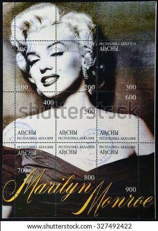abkhazia   circa 1999  a stamp...