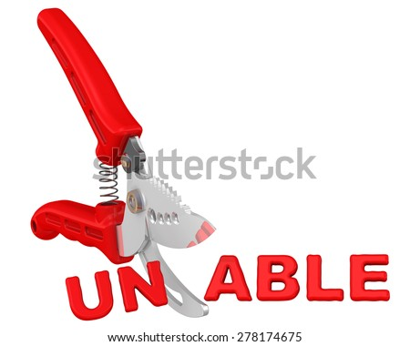 Able. The concept of changing the conclusion\ Pruner cuts word \