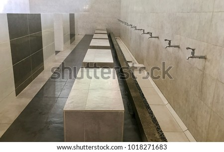 Ablution room in mosque.