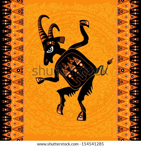 aboriginal art - figure of scapegoat (dancing sacred goat)