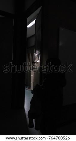 Free Dark room with open door and light Photos Avopixcom