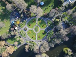 Above Saint Stephens Green, Dublin.
