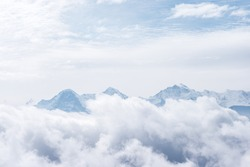 above the clouds with Eiger, Mönch and Jungfrau