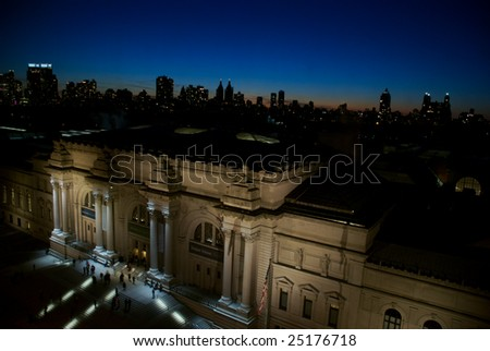 Above the Museum at Sunset - stock photo