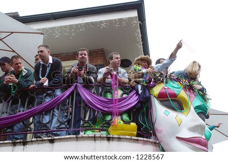 Above the Parade. Mardi Gras - New Orleans.