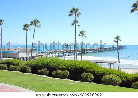 Above the San Clemente Pier  #662918902