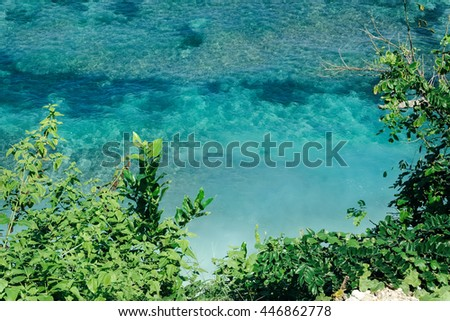stock photo above tropical sea nature bali island view from above natural sea reef in bali indonesia aerial 446862778 - Каталог — Фотообои «Природа, пейзаж»