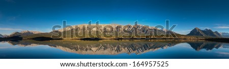 Abraham lake, in the foothills of the rocky mountains, Alberta Canada,