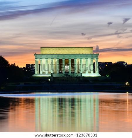Abraham Lincoln Memorial at night - Washington DC, United States Stock photo ©