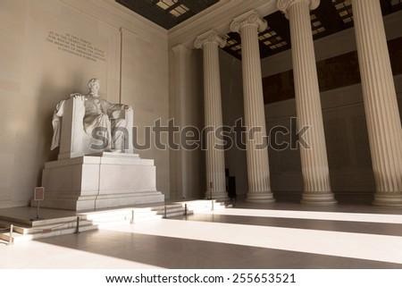 Abraham Lincoln Memorial building Washington DC US USA Stock photo ©