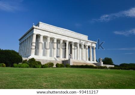 Abraham Lincoln Memorial in Washington DC USA - stock photo