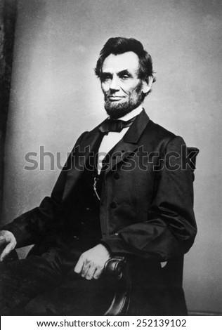 Abraham Lincoln (1809-1865), photograph by Mathew Brady