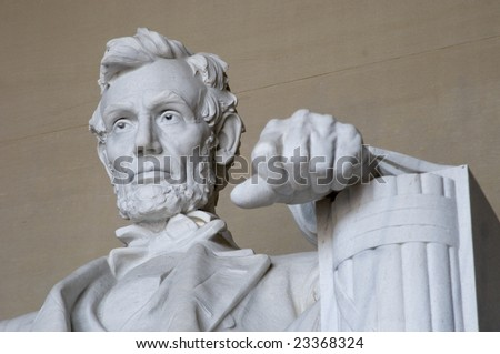 stock photo : Abraham Lincoln Statue at the Lincoln Memorial in Washington