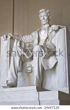 Abraham Lincoln Statue at the Lincoln Memorial in Washington DC