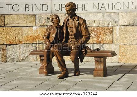 abraham lincoln statue with son ...