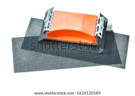 abrasive grids with holder isolated