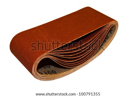 abrasive paper pack isolated on white background