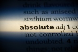 absolute word in a dictionary. absolute concept, definition.