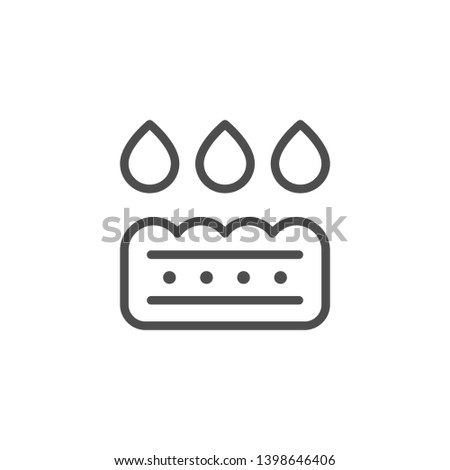 Absorption line icon isolated on white