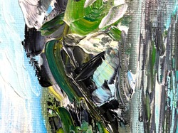absrtact oil paint strokes background