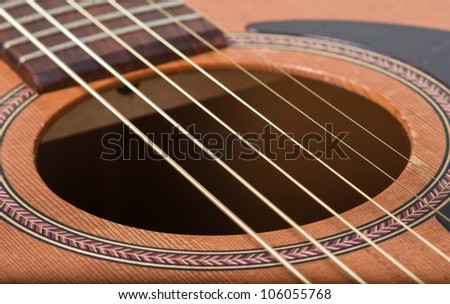 abstract acoustic guitar