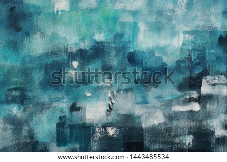 Abstract acrylic art background. Contemporary art. #1443485534