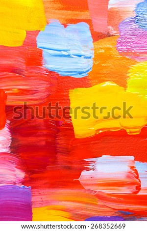 Abstract acrylic painting. Colorful multicultural city. Bright streets. Art backgrounds. Backgrounds & textures shop.